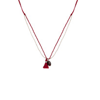 Minori Delicate Garnet Necklace