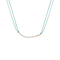 Delicate Silver & Sky Necklace