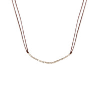 Delicate Silver & Brown Necklace