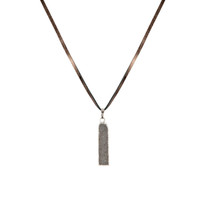 Celeste Druzy Bar Necklace on Leather