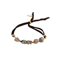 Labradorite Love Adjustable Slide Bracelet