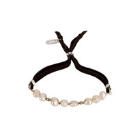 Pearl & Gemstone Adjustable Slide Bracelet in White