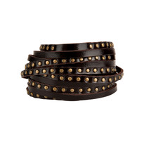 Emmett Leather Wrap Bracelet in Chocolate