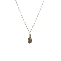 Charmed Necklace in Silver with Labradorite