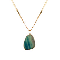 Pacific Fluorite Necklace on Leather