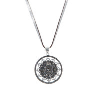 Mandala Necklace on Leather