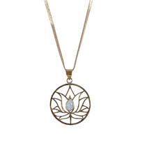 Padma Lotus Necklace on Leather