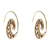 Griffin Spriral Hoop Earrings in Brass