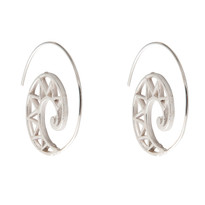 Griffin Spriral Hoop Earrings in Silver
