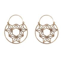 Horizon Hoop Earrings in Brass