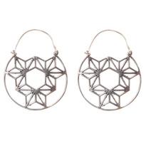 Horizon Hoop Earrings in Silver