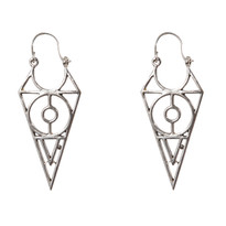 Philo Inverted Pyramid Earrings in Silver