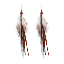 Feather Earrings in Whiskey