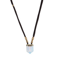 Maia Opalite Necklace on Suede