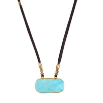 Madeline Howlite Necklace on Suede