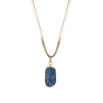 Kaegan Kyanite Necklace on Leather
