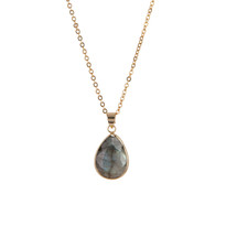 Leda Labradorite Teardrop Necklace