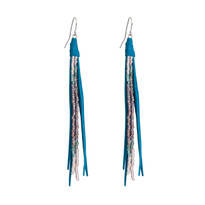 Beaded Tassle Earrings In Cameo