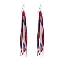 Beaded Tassle Earrings In Vino