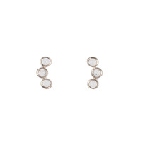 Orion Studs with Quartz in Silver