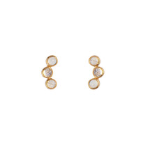 Orion Studs with Moonstone in Gold