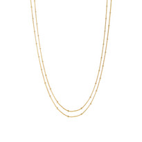 Delicate Double Chain Necklace in Gold