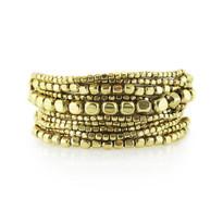 Liquid Bead Bracelet Set In Gold