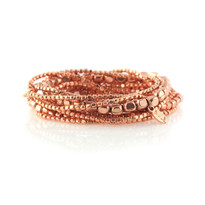 Liquid Bead Bracelet Set In Copper