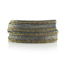 Beaded Mini Wrap Bracelet In Midnight Shimmer