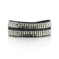 Mesh Wrap Bracelet In Charcoal Shimmer