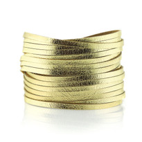 Sliced Wrap Bracelet In Gold