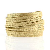 Sliced Wrap Bracelet In Tan Shimmer