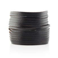Sliced Wrap Bracelet In Chocolate