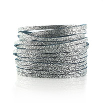 Sliced Wrap Bracelet in Grey Shimmer