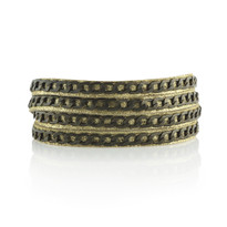 Brass Tactic Wrap Bracelet In Gold Shimmer