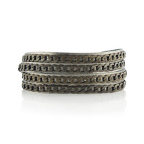 Brass Tactic Wrap Bracelet In Gunmetal