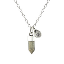 Stone Point & Star Necklace With Pyrite
