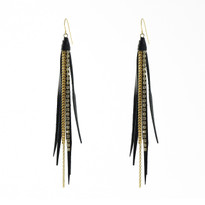 Tassle Earrings In Black