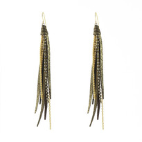 Tassle Earrings In Coffee Shimmer