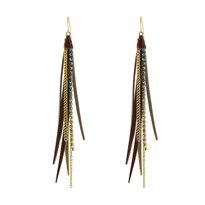 Tassle Earrings In Whiskey