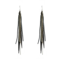 Tassle Earrings In Gunmetal