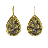 Saree Parrot Earrings In Gold