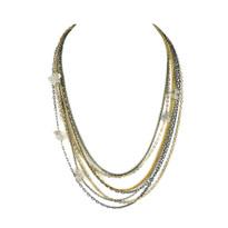 Teired Chain & Quartz Necklace
