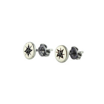 North Star Studs In Polished Silver