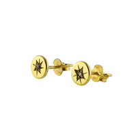North Star Studs In Polished Gold