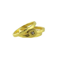 North Star Stackable Rings In Gold Size 8