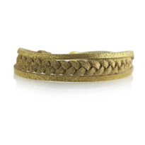 Braided Adjustable Slide Bracelet in Gold Shimmer