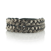Magic Braid Chain Bracelet in Gunmetal