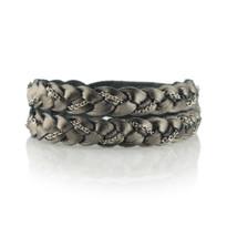 Magic Braid Chain Bracelet in Gunmetal
