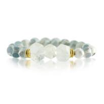 Gemstone Stretch Bracelet with Grey Quartz